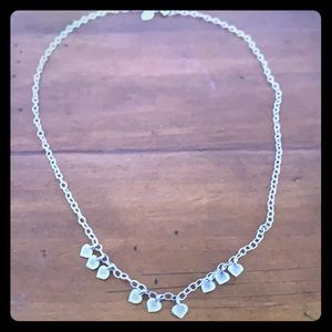 Me&Ro sterling silver 9 lotus petal chain necklace